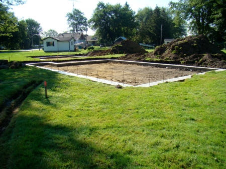 The finished footings