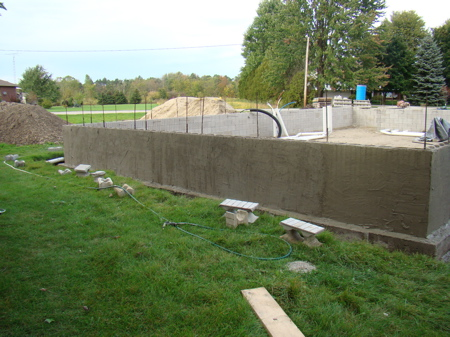 North foundation wall with SBC