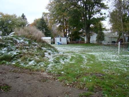 October 16, First snow!