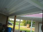 Details of fascia on beams in screen porch.  Posts not enclosed yet, deciding how screen installation will be designed.