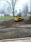 Moving dirt into the site of Lake Hoekman