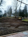 Almost done with major dirt moving